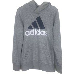 Adidas Hoodie Small Gray Big Logo Super Soft